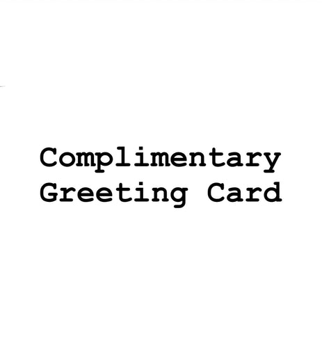 Complimentary Greeting Card