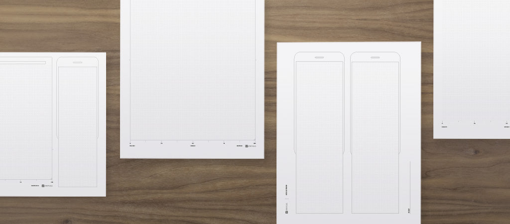 Free printable dot grid pages download for wireframing and UX