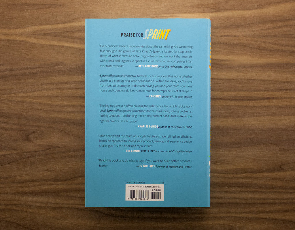 ... Sprint: How To Solve Big Problems And Test New Ideas In Just Five Days
