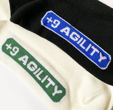 Load image into Gallery viewer, +9 Agility Socks Black