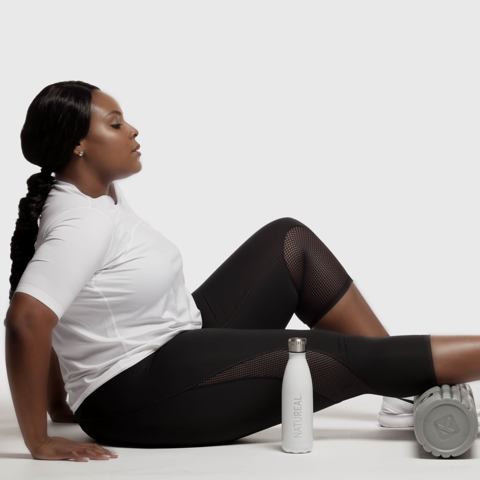 Black woman home workout exercise sarcoidosis natureal