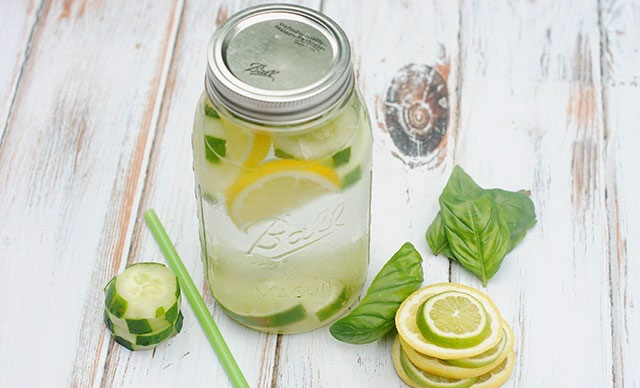 Cucumber Lemon Lime Basil Detox Water - NATUREAL Supplements