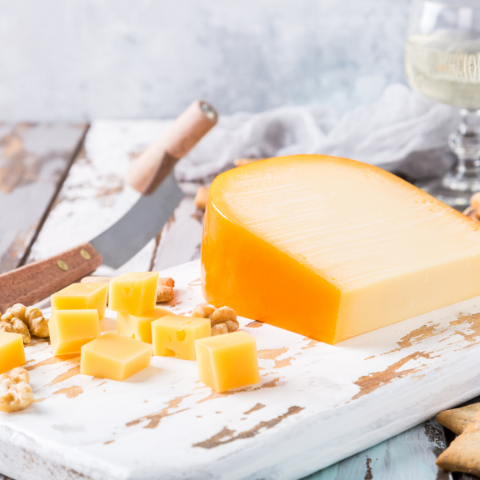 Gouda, top natural probiotic-rich cheese.