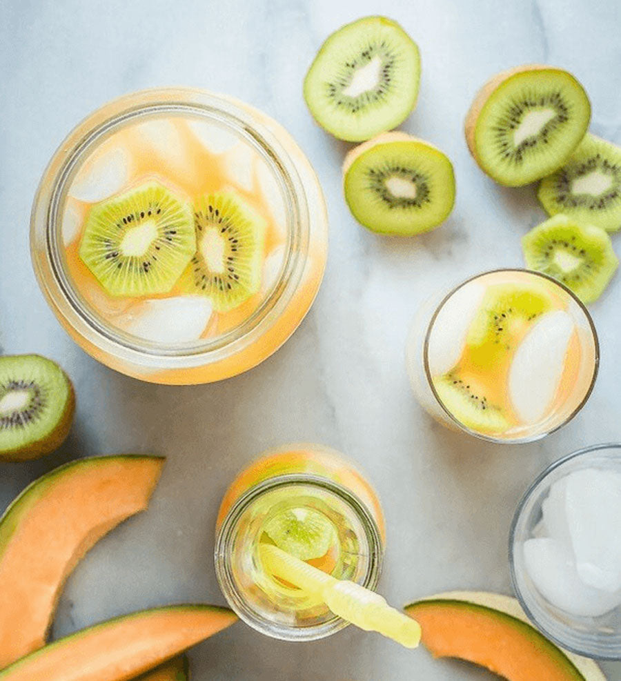 Cantaloupe Kiwi Detox Water - NATUREAL Supplements