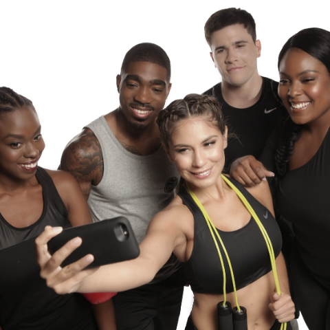 group of male and female workout partners health and fitness new year's resolutions