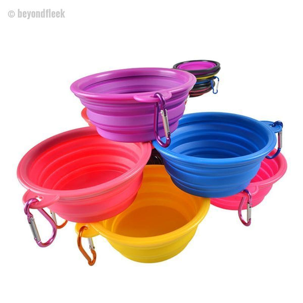 Dog Collapsible Feeding Travel Bowl