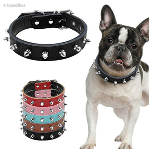 Spiked Studded Leather Dog Collars