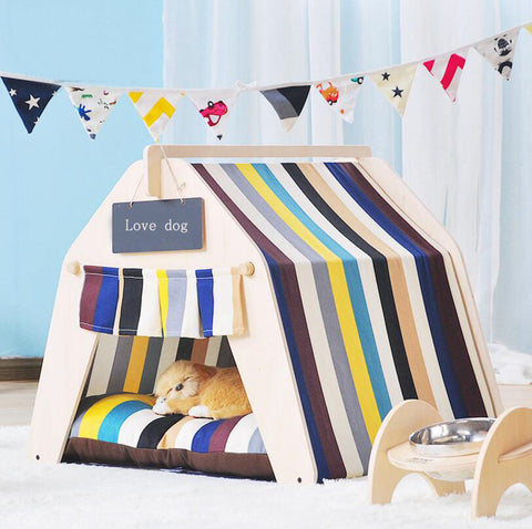 New Fashion Wooden Pet tent Dog house