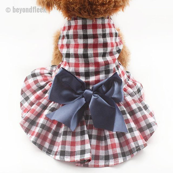 Fashion Plaid Dog Dresses XS S M L XL