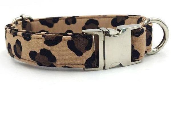 Leopard Print Fashion Print Bow Tie Collar and Leash