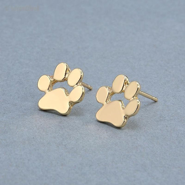 Cute Cat and Dog Pow Stud Earrings
