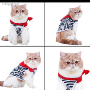 NEW Sailor's Striped Shirt with Red Scarf