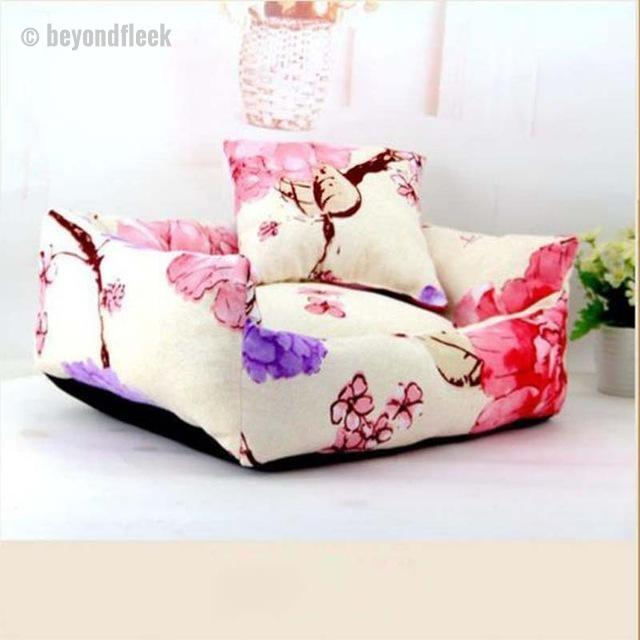 Cute Spring Flower Sofa Bed with Cushion