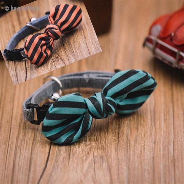 Spring Bow Tie Pet Collar Necklace