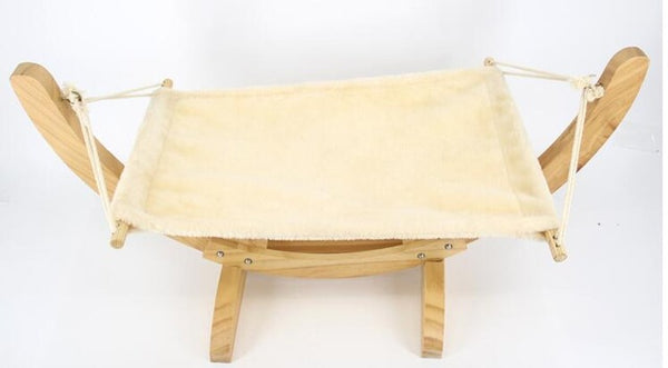Wood Breathable Lounger Cat Hammock
