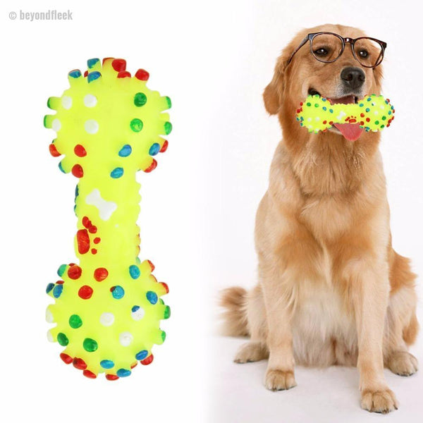 Colorful Dotted Dumbbell Dog Toys