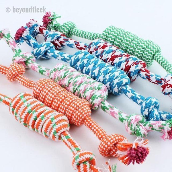 Puppy Dog Cotton Braided Bone Rope Toy