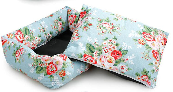 Fresh Spring Canvas Comfortable Pet Dog Bed