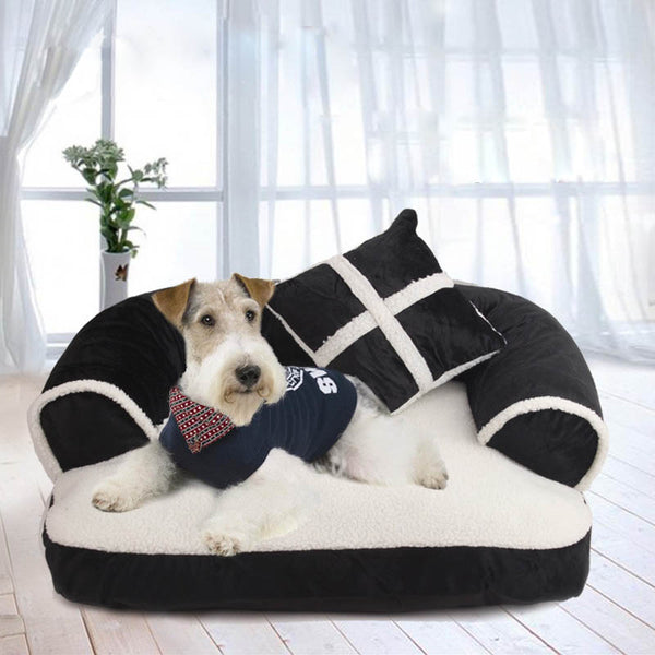 Luxury Comfortable Velvet Large Dog Sofa Bed