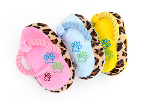 Pet Chew Plush Slipper Shape Squeaky Toys