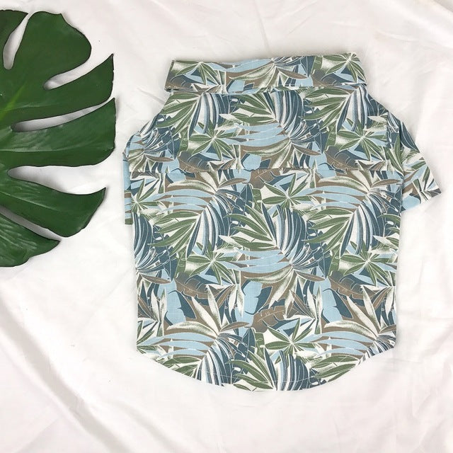 New Arrival Cute Hawaii Style Dog Shirt S-L