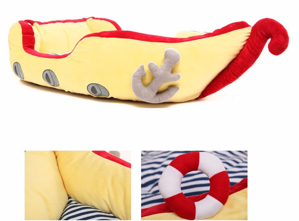 Pirate Boat Cushion Dog Bed