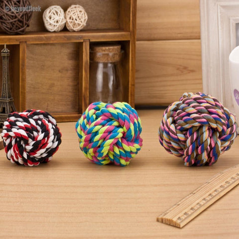 Fun Wool Rope Ball Dog Toy