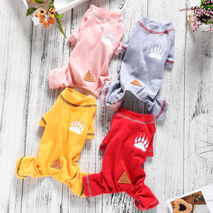 New Arrival Paw Print Dog Pajamas