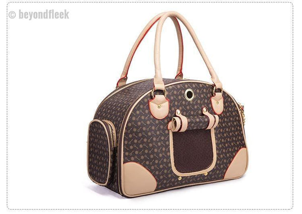 Small Pets Luxury Travel Leather Bags