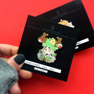 Cry Christmas Hard Enamel Pin