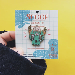 Spoop Skull Hard Enamel Pin