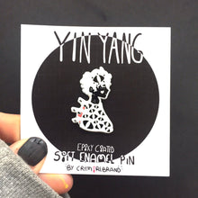 Load image into Gallery viewer, Yin-Yang Epoxy Coated Soft Enamel Pin