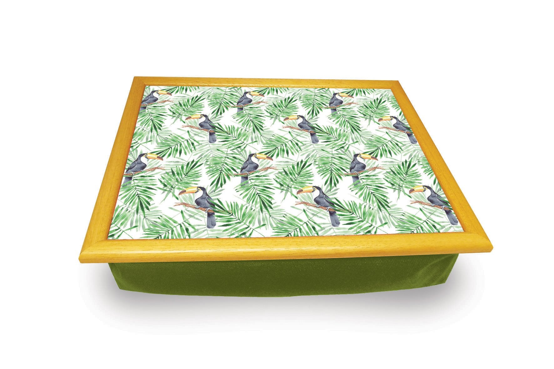 Toucan with Leaf Background<br> Cushion Tray