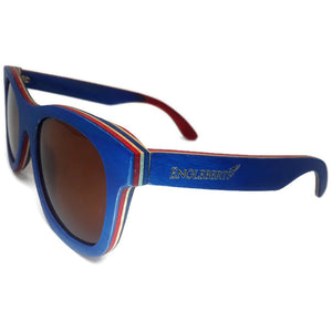 Blue Bamboo Brown Lens Sunglasses