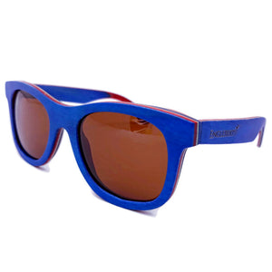 Brown Polarized lens on multi-colored sunglasses