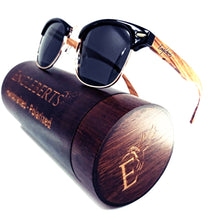 Load image into Gallery viewer, walnut wood sunglasses with wooden case