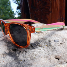 Load image into Gallery viewer, juicy fruit sunglasses outdoors side view