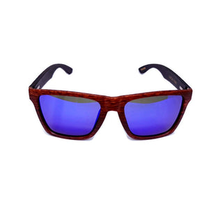 oak frame bamboo sunglasses front view