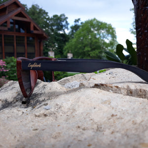 oak frame bamboo sunglasses side view