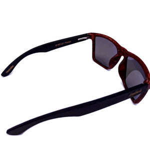 oak frame bamboo sunglasses top view