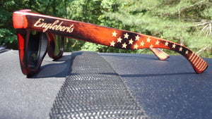 Red Burnt Bamboo Sunglasses