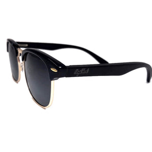 black bamboo sunglasses side view