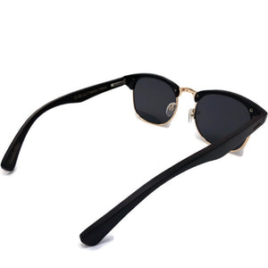 black bamboo clubmaster sunglasses top view