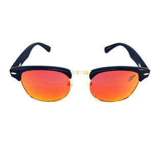 black bamboo clubmaster sunglasses red lenses