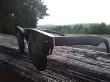 Load image into Gallery viewer, black skateboard wood sunglasses side view