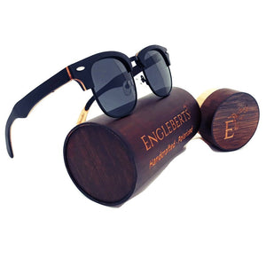 multi layer skateboard sunglasses with bamboo case