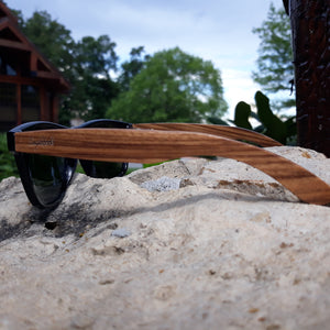 bamboo sunglasses side view