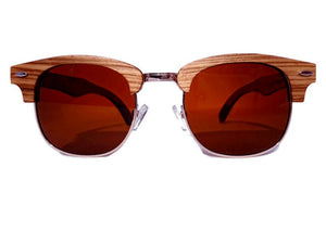 ebony zebrawood sunglasses front view