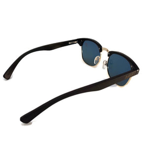 black bamboo clubmaster sunglasses rear view