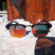 Load image into Gallery viewer, fire at night sunglasses front view outdoors in sun